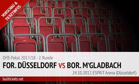 Düsseldorf - Gladbach Tickets (DFB-Pokal 2017/18, 2. Runde)