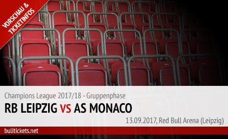 Leipzig - Monaco Tickets (Champions League)