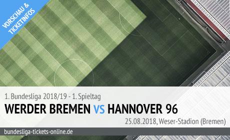 Bremen Hannover Bundesliga Tickets (25.08.2018)