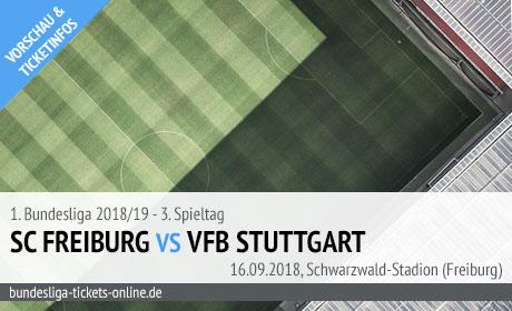 Freiburg VfB Bundesliga Tickets (16.09.2018)